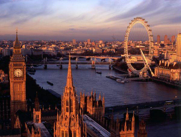 Вид на Лондон вечером
