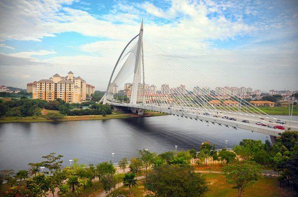 Мост Сери Вавасан в городе Путраджая