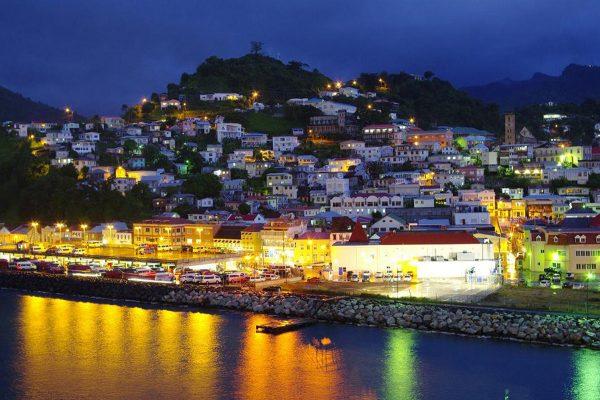 Ночное побережье Гренады