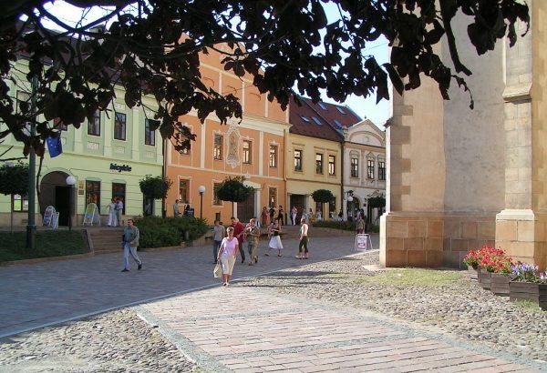 Одна из улиц города Прешов