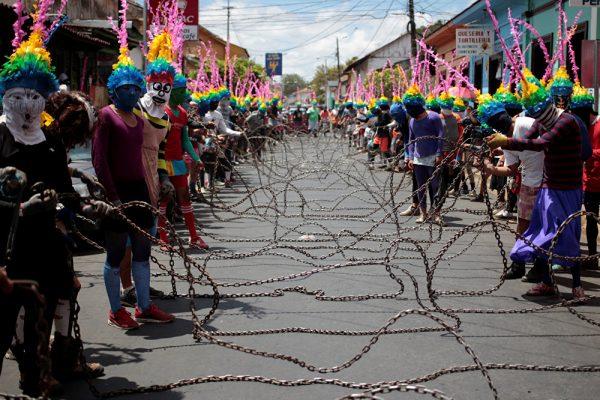 Пасхальная процессия в Никарагуа