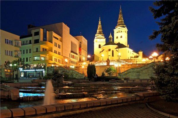 Площадь в городе Жилина