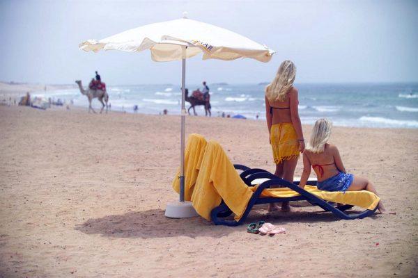 Пляж на побережье Агадира