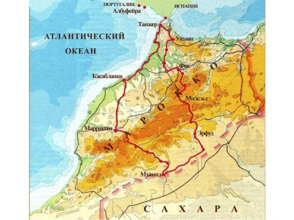 Рельеф Марокко