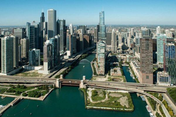 Вид на Чикаго