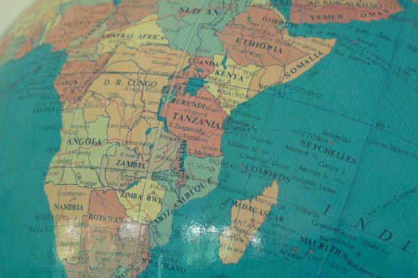 Танзания на глобусе