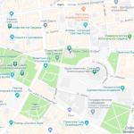 Туристическая карта центра Софии