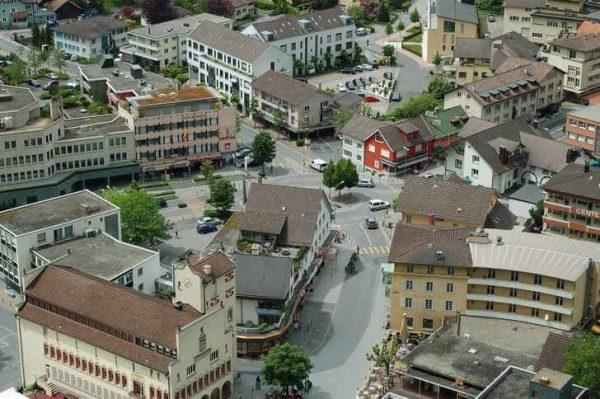 Улица Штэдле в Вадуце