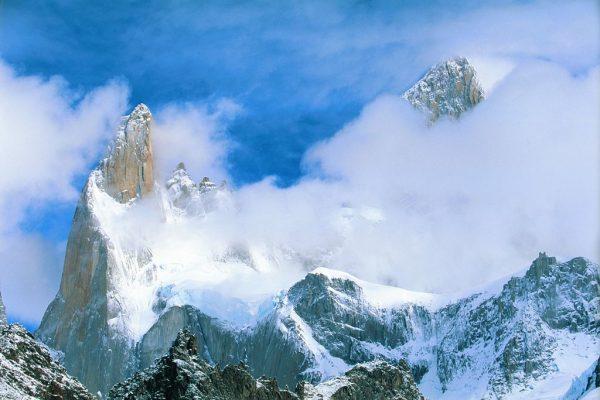 Вершина горы Фицрой в Чили