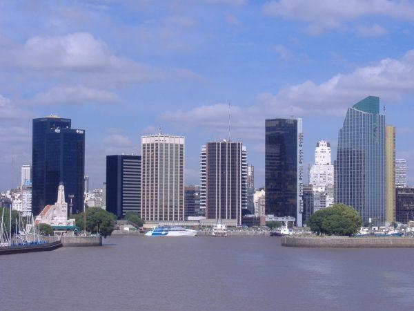 Вид на Буэнос-Айрес с моря