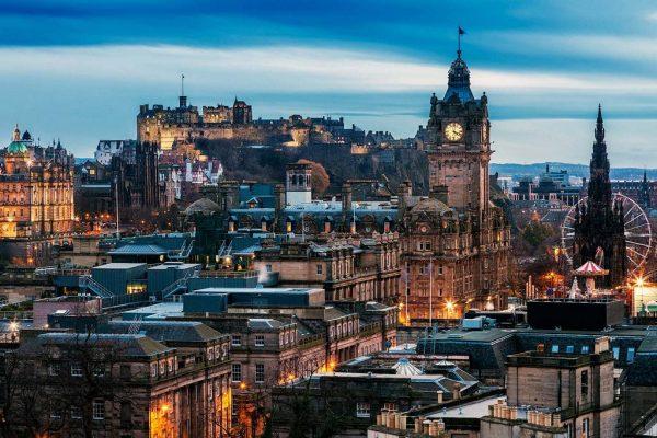Вид на центр Эдинбурга