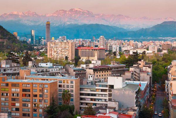 Вид на город Сантьяго
