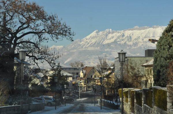 Вид на город Шан зимой