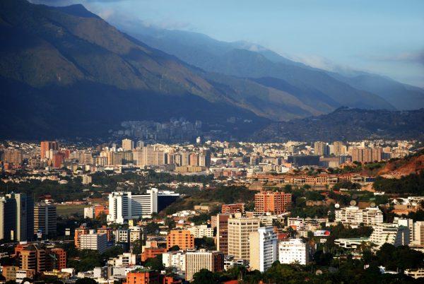 Вид на Каракас в Венесуэле