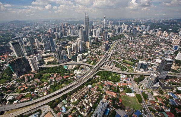 Вид на Куала-Лумпур в Малайзии