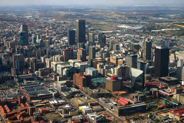 Йоханнесбург с высоты птичьего полёта
