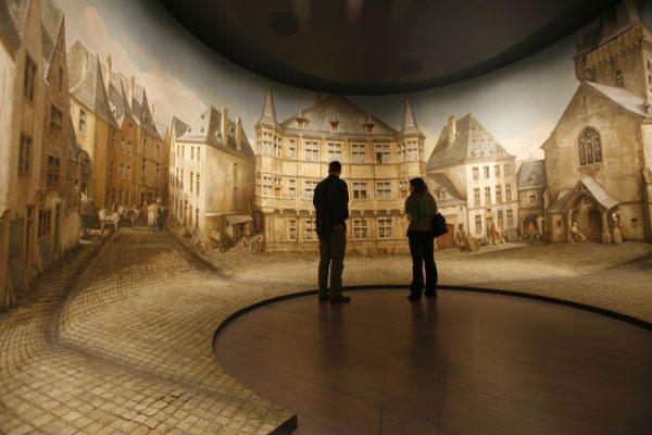 Зал музея истории Люксембурга