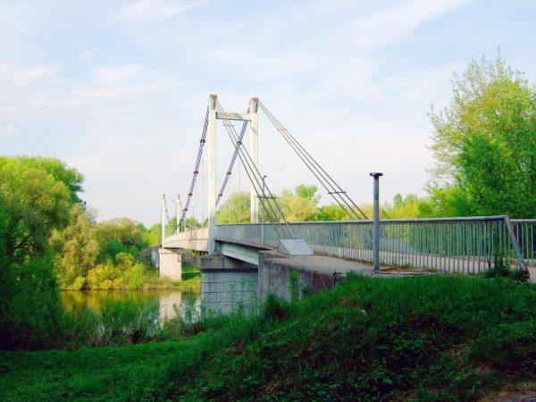 Мост через Десну в парке «Соловьи» в Брянске