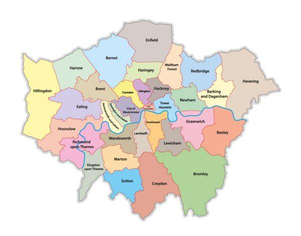 Карта районов Лондона