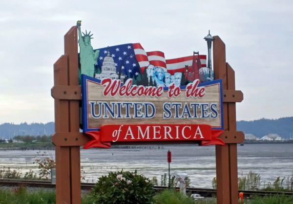Рекламный плакат «Добро пожаловать в США»