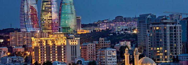Баку вечером
