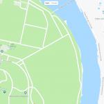 Большой парк на карте Севильи