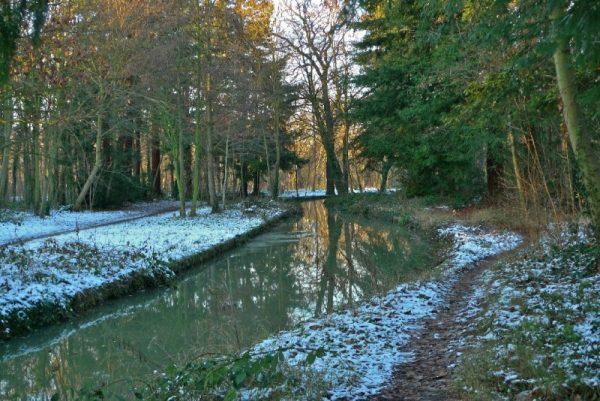 Булонский лес зимой в Париже