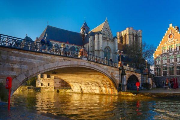 Церковь и мост Святого Михаила в Генте