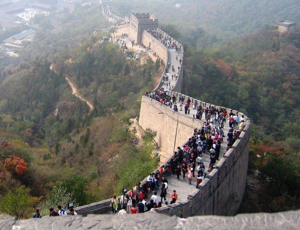 Часть Великой китайской стены недалеко от Пекина