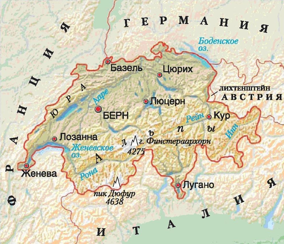 Карта Туниса на русском языке / Тунис на карте мира / где ...