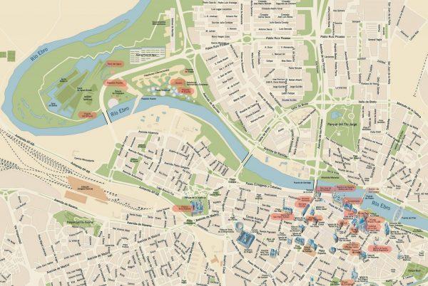 Туристическая карта Сарагосы