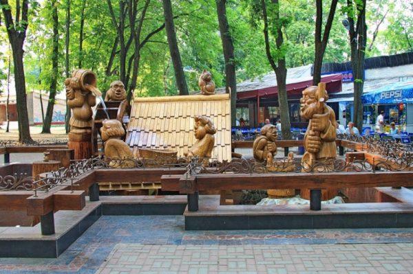 Фонтан «Водяная мельница» в парке А. К. Толстого в Брянске