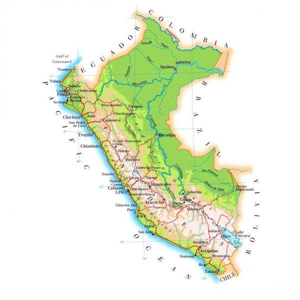Географическая карта Перу