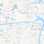 Карта центра Гента