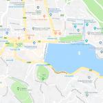 Карта центра города Канди