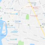 Карта центра Негомбо