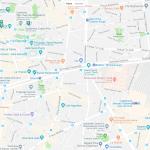 Карта достопримечательностей 9 и 10 округов Парижа