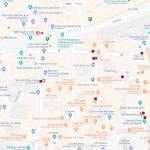 Карта достопримечательностей центра Мадрида