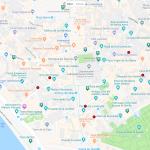 Карта достопримечательностей в центре Севильи