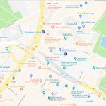 Карта достопримечательностей в центре Штутгарта