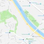 Карта набережных в Штутгарте