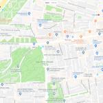 Карта нескольких парков Мадрида