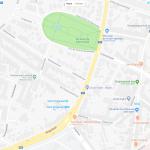 Карта парка на окраине Гента