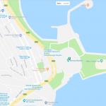 Карта прибрежного района Баку