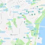 Карта прибрежной части Баку