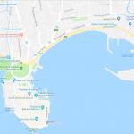 Карта прибрежной части города Галле