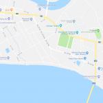 Карта прибрежной части города Паксе
