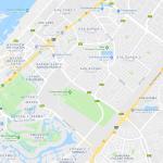 Карта прибрежной зоны Дубая около Пальма Джумейра