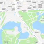 Карта расположение озёр в Пекине