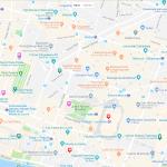 Карта расположения 1 и 2 округов Парижа
